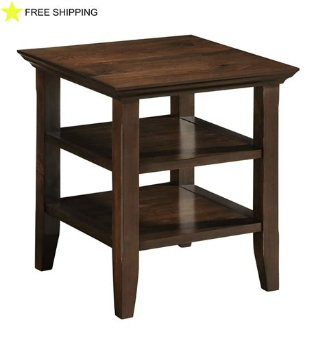 Living Room Side Tables Ebay by Office End Side Table Living Room Drawer Furniture Wood