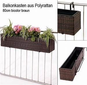 Balkonkasten Halterung Geländer : neu im shop balkonk sten aus polyrattan auch f r die fensterbank pflanzk bel blog von ae trade ~ Watch28wear.com Haus und Dekorationen