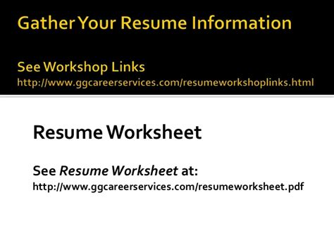 Resume Writing Workshop Ideas by Workshop Resume Writing Tips