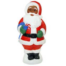 christmas decorations christmas blow molded 31 quot african american santa claus decoration