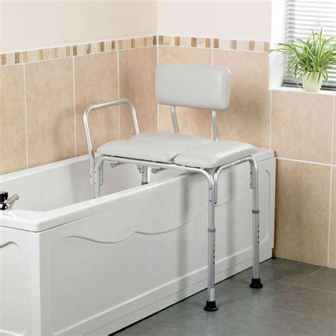 bath transfer bench homecraft padded bath transfer bench sports supports