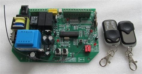 Ac Sliding Gate Opener Control Board With 2pcs Remote