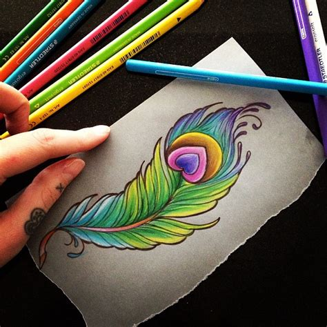 colorful peacock feather tattoo meaning designs