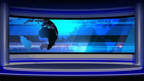 tv green screen template white news tv studio set 14 virtual green screen background