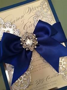 Wedding Invitations Royal blue and silver   Royal Blue ...