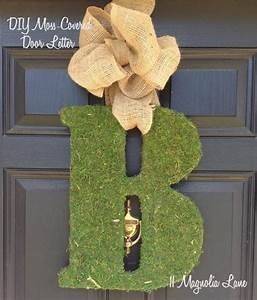 diy moss covered letter tutorial 11 magnolia lane With live moss letters