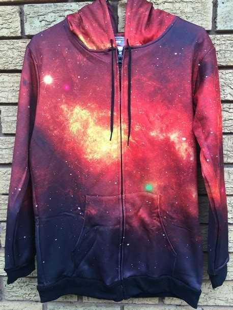 Sweater: zipup, sweatshirt, hoodie, purple, galaxy print