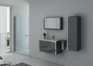 Meuble De Salle De Bain Gris : meuble de salle de bain gris taupe meuble de salle de bain 1 vasque 90 cm dis025 900 distribain ~ Preciouscoupons.com Idées de Décoration
