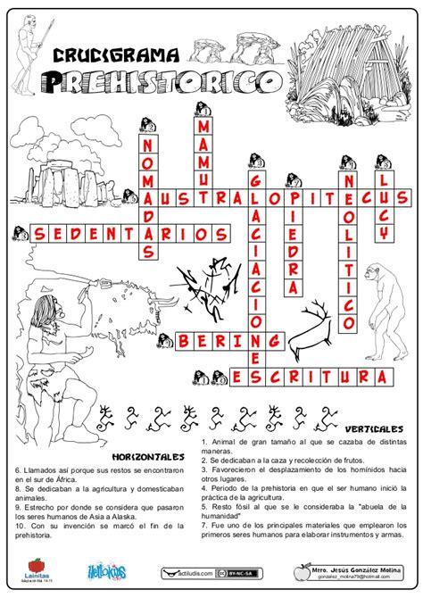03 crucigrama prehistorico solución
