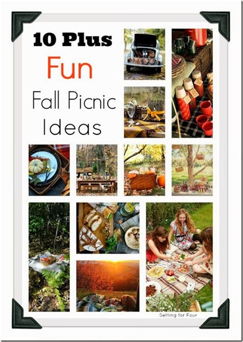 10+ Fall Picnic Ideas Beautiful & Inspiring!  Setting For 4