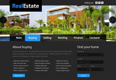 real estate website templates  premium