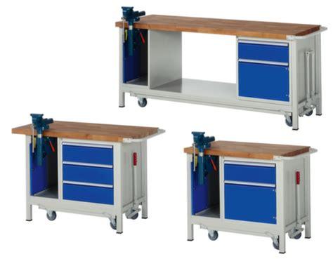 werkbank mit schraubstock werkbank mit schraubstock absenkbares fahrgestell in