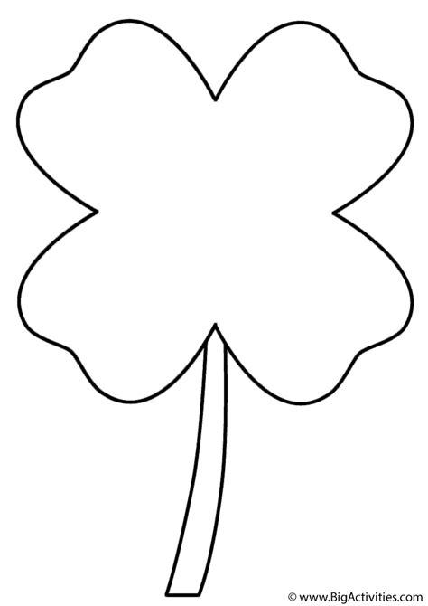 leaf clover coloring page st patricks day