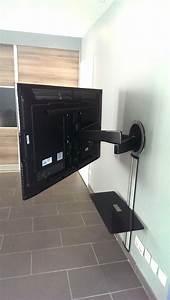 Bras Articulé Pour Tv : installation t l sur support articul le vogel 39 s ~ Dailycaller-alerts.com Idées de Décoration