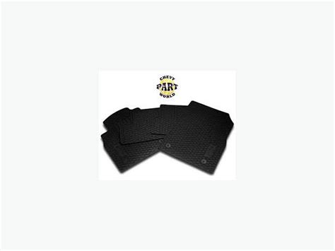 chevy cruze all weather rubber floor mats oem genuine west