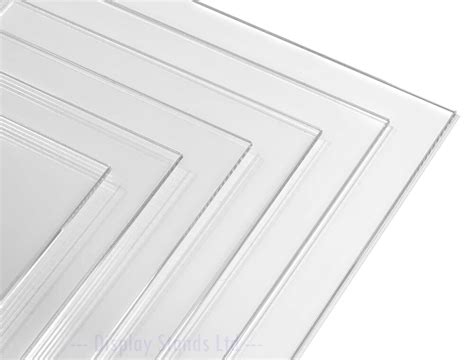 Clear Acrylic Perspex Plastic Sheet Panel Custom Cut To