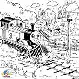 Coloring Train Thomas Engine Tank Steam Colouring Printable Drawing Track Railway Practice Percy James Drawings Render Piece Clip Library Clipart sketch template