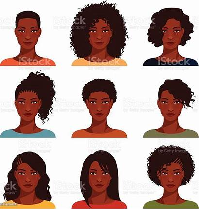 African American Woman Clipart Hairstyle Vector Illustration