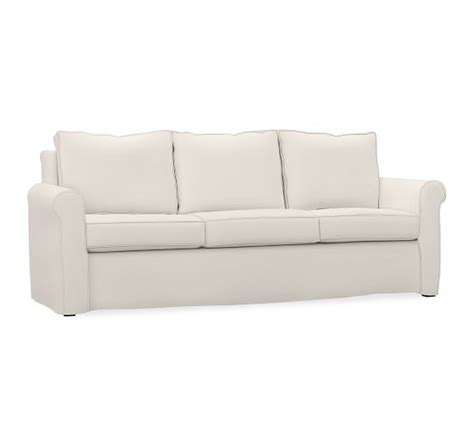 Slipcovered Sleeper Sofas by Cameron Roll Arm Slipcovered Sleeper Sofa Pottery Barn