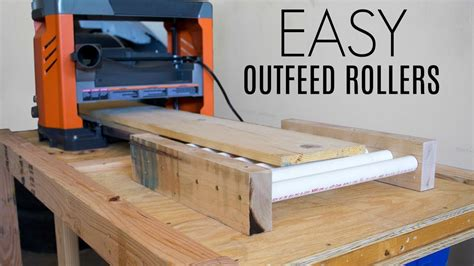 easy outfeed rollers woodworking shop project