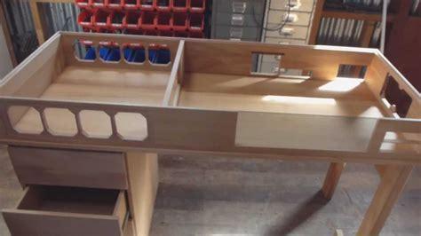 built in computer desk plans custom made watercooled desk part 1 youtube