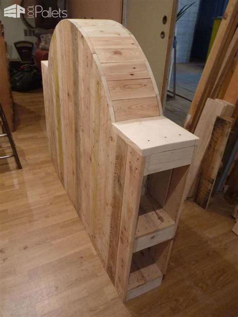 tete de lit bois patine t 234 te de lit en bois de palette pallet bed headboard from