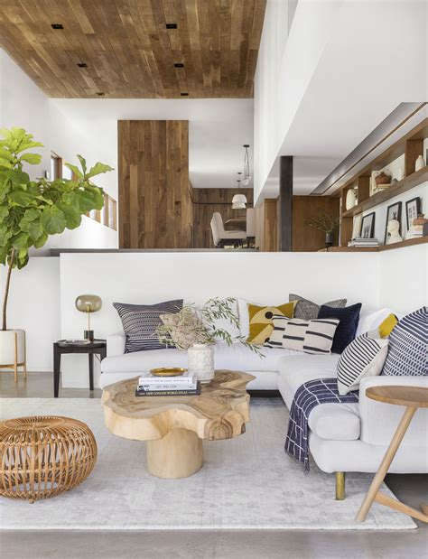 A Modern And Organic Living Room Makeover Get The Look