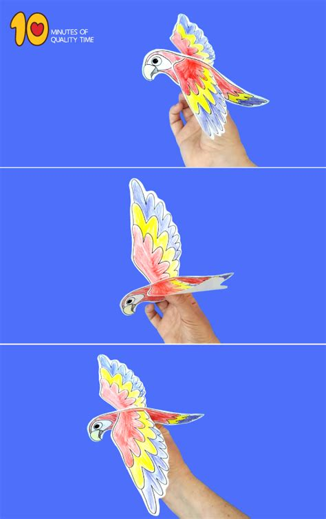 flying parrot craft  minutes  quality time