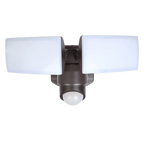 2 head led motion activated flood light shop utilitech 180 degree 2 head dual detection zone