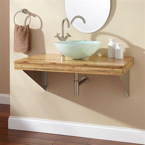 benoist reclaimed wood double vanity  semi recessed