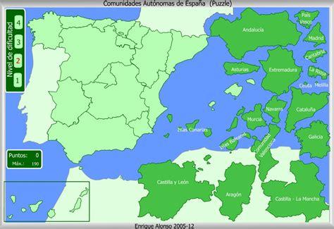 Mapa Interactivo De España Comunidades Autónomas Puzzle