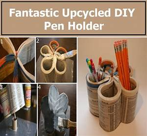 Fantastic Upcycled DIY Pen Holder DIY Home Things