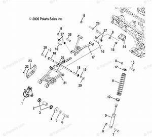 Polaris Atv 2006 Oem Parts Diagram For Suspension  Rear