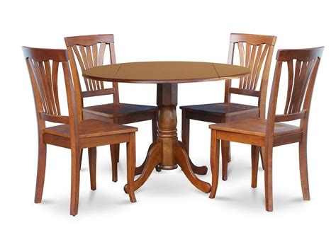 42 inch round kitchen table 5pc dinette kitchen dining set round 42 quot table 4 wood