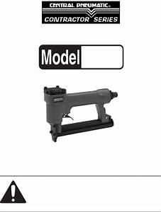 Central Pneumatic Air Compressor Staple Gun 97572 User