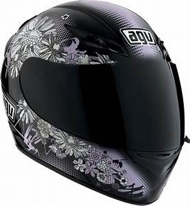 Agv K3 Flowers Full Face Helmet   Pink