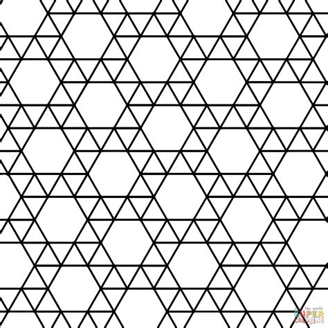 tessellation templates tessellation with triangle and hexagon coloring page free printable coloring pages