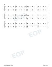 yo perreo sola bad bunny numbered musical notation preview
