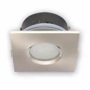 spot carr 233 sp 233 cial salle de bain ip65 encastrable satin chrome ou blanc