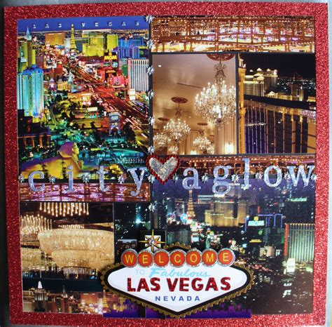 las vegas scrapbook page city aglow craft ideas