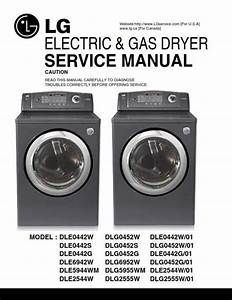 Lg Dle0442g Dlg0452g Dle0442g Dryer Service Manual And