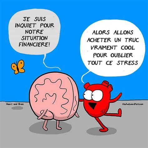combat eternel caricature en bd coeur  cerveau