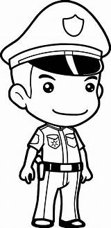 Police Policeman Coloring Cop Pages Drawing Officer Printable Officers Law Enforcement Hat Cartoon Anime Draw Kid Clipartmag Getdrawings Print Getcolorings sketch template