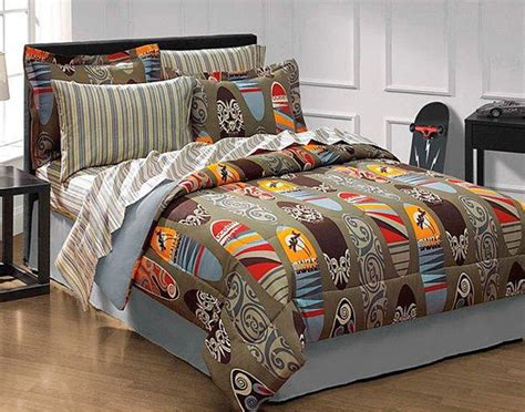 surfs up bedding set 8pc surfboard comforter set full bed