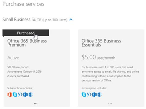Buy Another Office 365 For Business Subscription