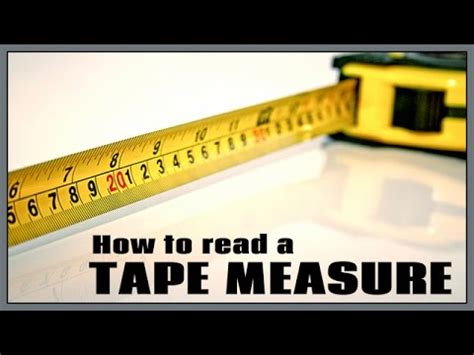 how to read a measure how to read a tape measure w free online course youtube