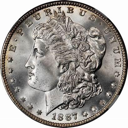 Dollar Silver Morgan Value 1887 Coins Rare