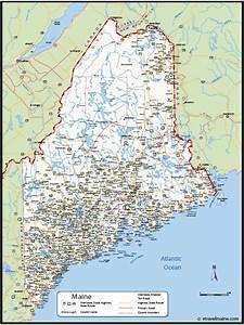 Map Of Maine   Etravelmaine