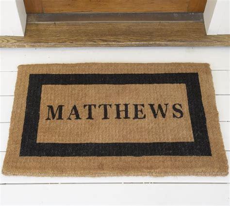 personalized door mat personalized doormat pottery barn