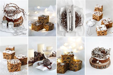 christmas cake tray bake shades  cinnamon